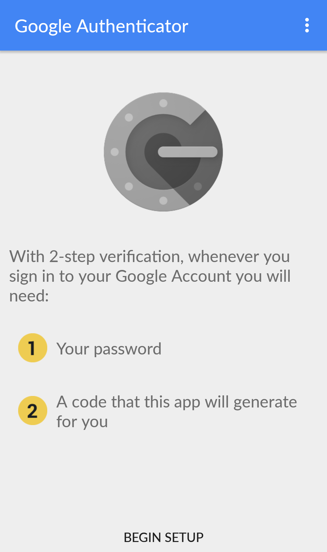 google authenticator manual account entry