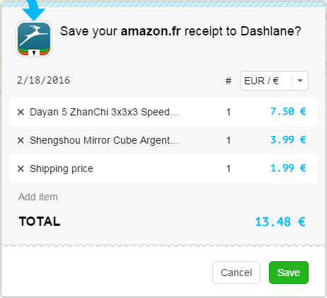 how to disable the receipt capture for online purchases dashlane