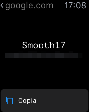 inside password Apple Watch