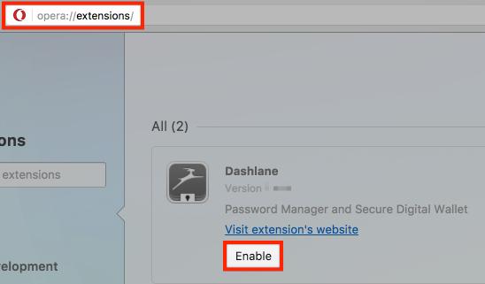 How to install the Dashlane extension in Opera – Dashlane