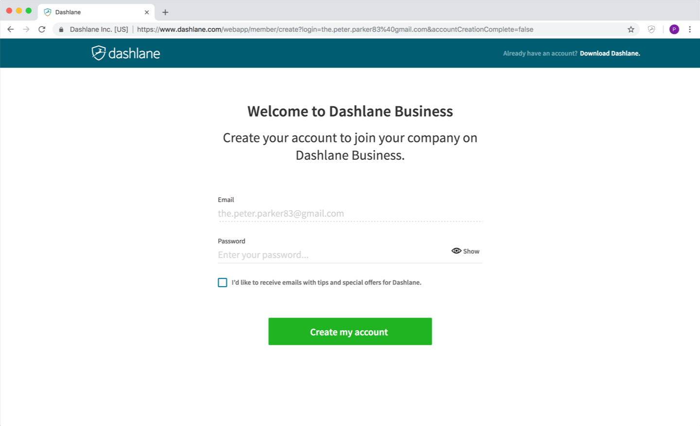 764533d78d How to join a Dashlane Business account – Dashlane